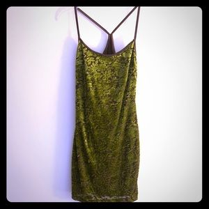 Vintage Urban Girl Jacquard Slip Mini Dress  S